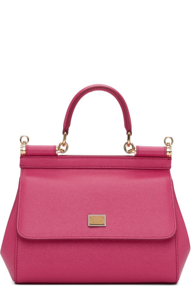 8b92d67c1a57 Dolce   Gabbana Yellow Small Rubber Miss Sicily Bag from SSENSE ...