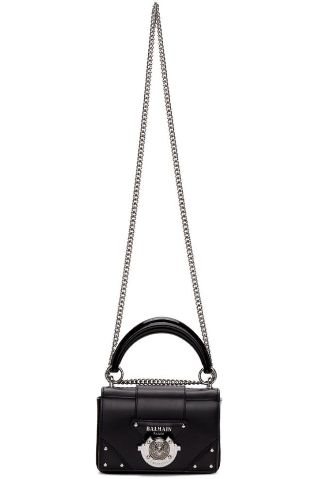 7f148c284f71d8 Prada Black Large Studded Belt Bag from SSENSE - Styhunt