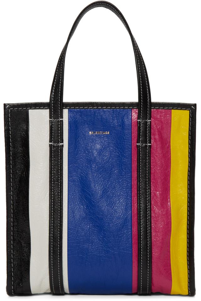 f9e3c848e Balenciaga Multicolor Small Bazar Shopper Tote