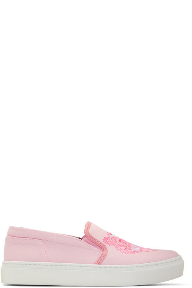 075c6764c1 Kenzo Pink Tiger K-Skate Slip-On Sneakers from SSENSE - Styhunt