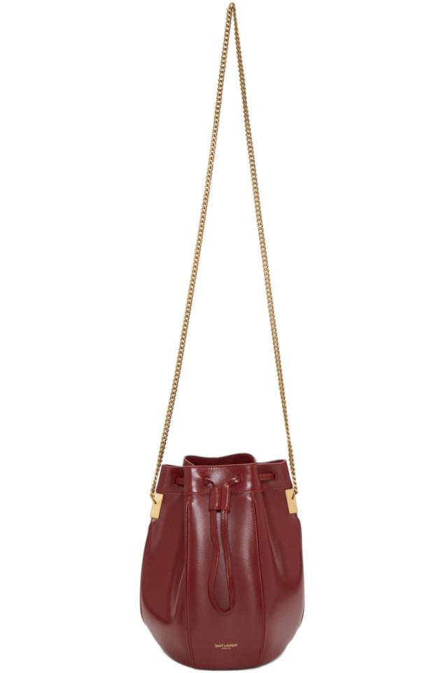df565b5b6211 Saint Laurent Red Small Talitha Bucket Bag