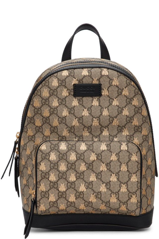 e9931446f32 Gucci Beige GG Supreme Bestiary Backpack from SSENSE - Styhunt