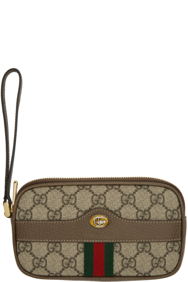 8edccac5eb72 ... Queen Margaret Bifold Wallet $490. Gucci Beige GG Supreme Ophidia Pouch