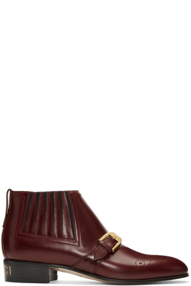 09b18f67e Gucci Khaki & Red Flashtrek Boots from SSENSE - Styhunt