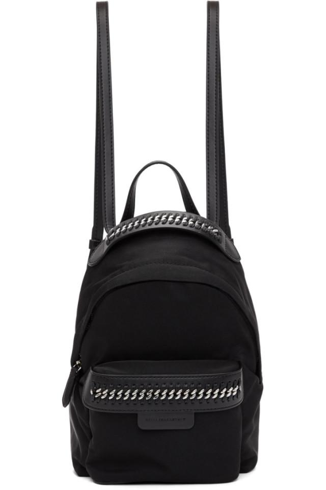 6320c38393 Stella McCartney Black Mini Falabella Go Backpack