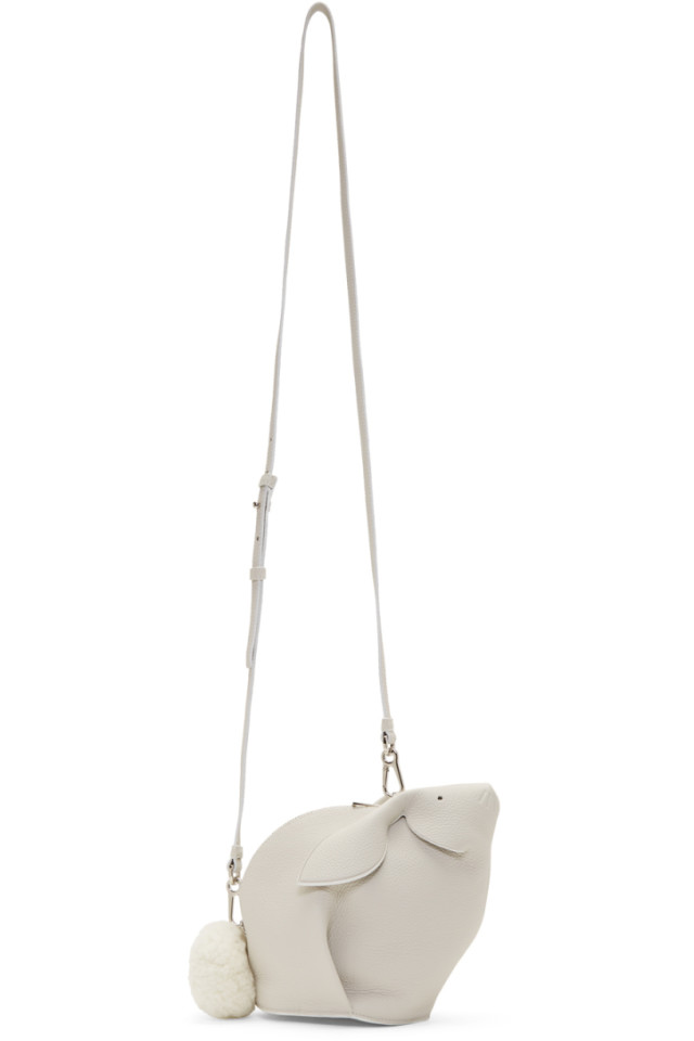 64e39e30d536 Loewe White Mini Bunny Bag from SSENSE - Styhunt