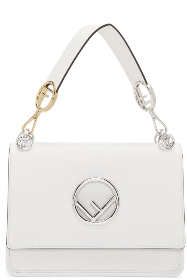 Fendi White Large Forever Fendi Kan I Bag from SSENSE - Styhunt 07e3756a0594e