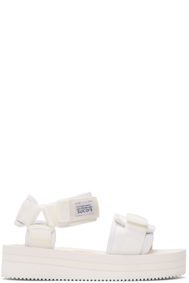 df4a529001b4 Suicoke White KISEE-VPO Sandals from SSENSE - Styhunt