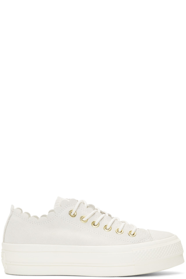 67b186468a33 Converse Off-White Suede Chuck Taylor All Star Lift Frilly Thrills Sneakers