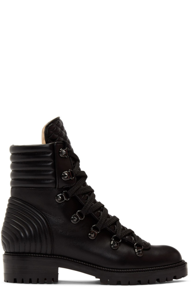 separation shoes a5dd7 94a5b Christian Louboutin Black Mad Boots from SSENSE - Styhunt