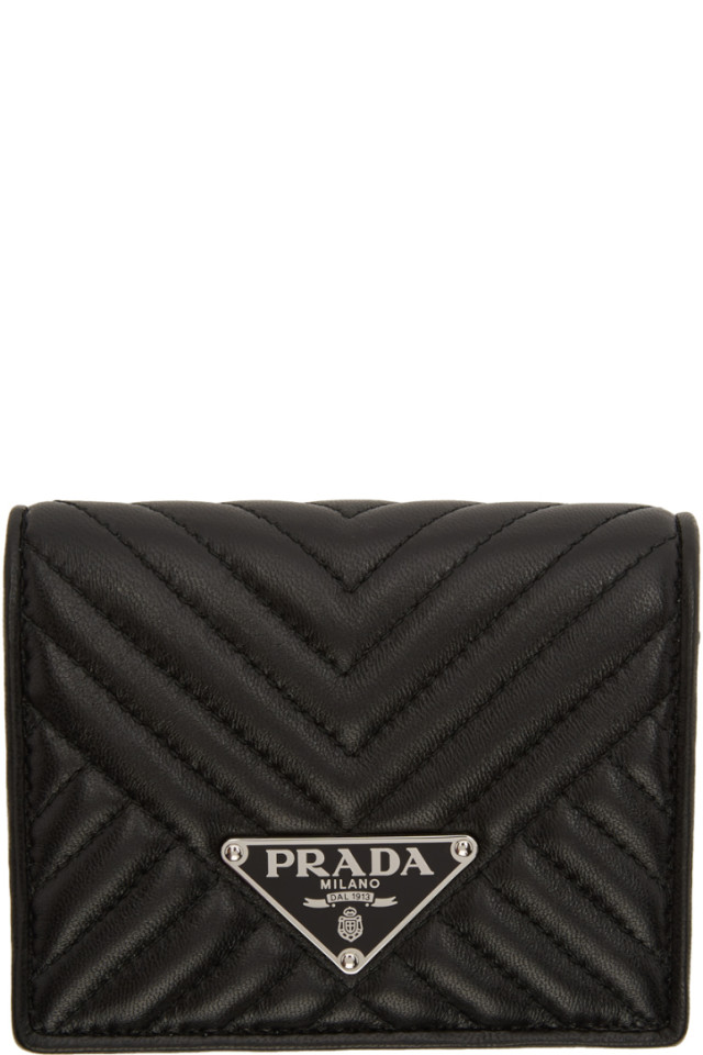 5f5c6dbcd268 Prada Black Quilted Bifold Wallet from SSENSE - Styhunt