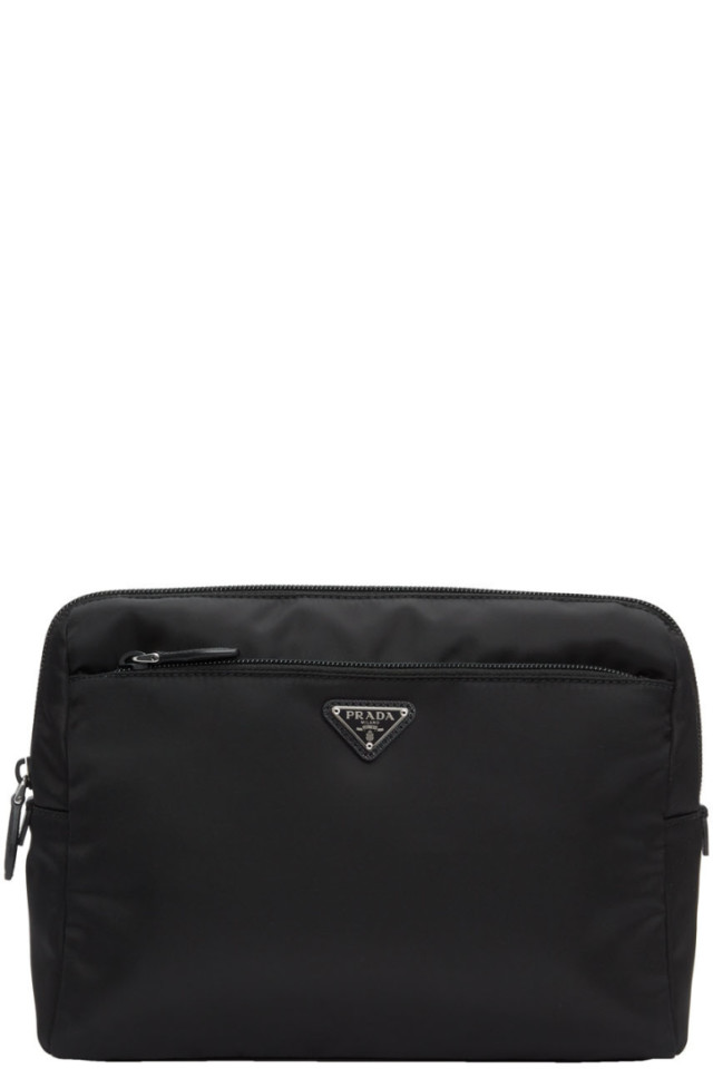 c659ec9a3561 Prada Black Nylon Pouch Shoulder Bag from SSENSE - Styhunt