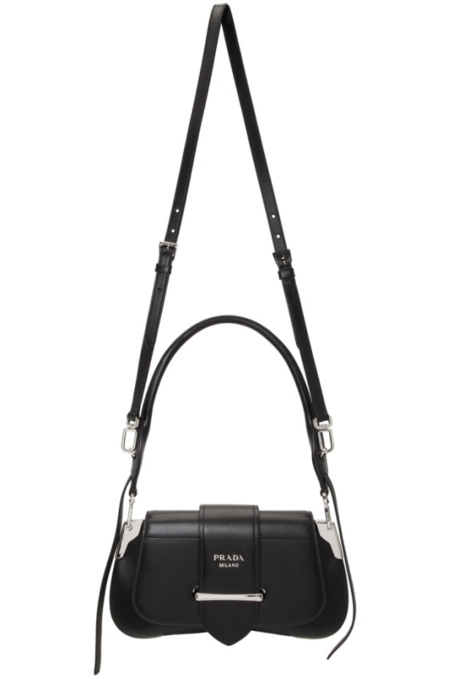 3592f9820e83 Prada Black Mini Cahier Bag from SSENSE - Styhunt