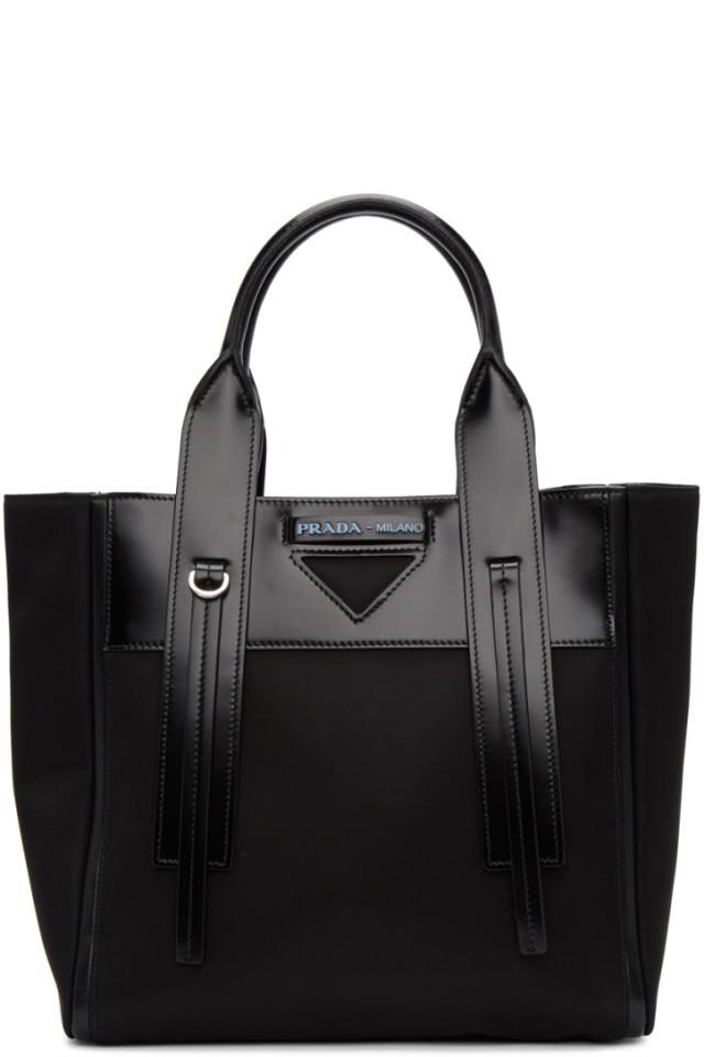 a7d96651572703 Prada Black & Blue Studded Strap Belt Bag from SSENSE - Styhunt
