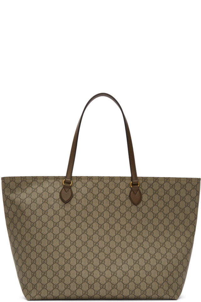 794b1155bb96 Gucci Beige GG Ophidia Tote. Gucci Beige GG Ophidia Tote $980. Gucci Brown  GG Supreme Ophidia iPhone Case Belt Bag