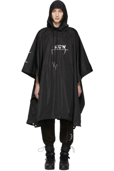 A-Cold-Wall* - SSENSE Exclusive Black Technical Poncho