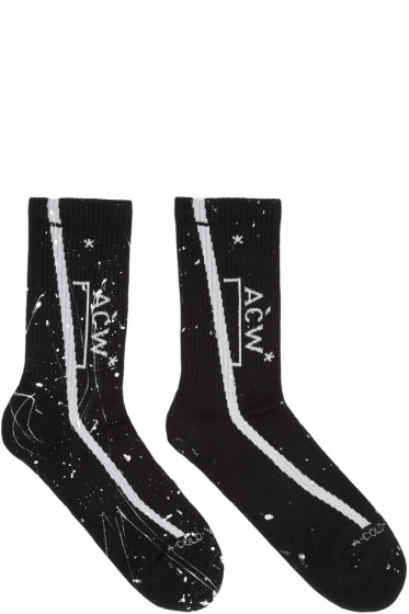 A-Cold-Wall* - SSENSE Exclusive Black Logo Socks