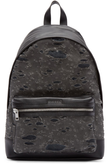 Diesel - Grey Distressed De-Hurrikane Backpack