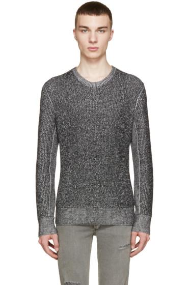 Rag & Bone - Black & White Marled Vincent Sweater