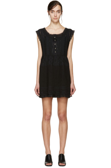Marc by Marc Jacobs - Black Broderie Anglaise Dress