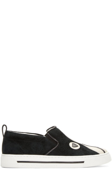 Marc by Marc Jacobs - Black & White Suede Shorty Sneakers
