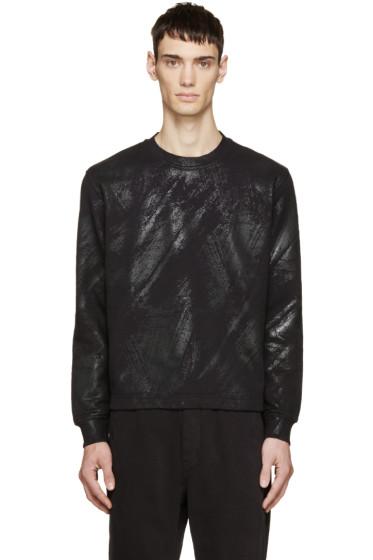 Diesel Black Gold - Black Brushstroke Print Sweatshirt