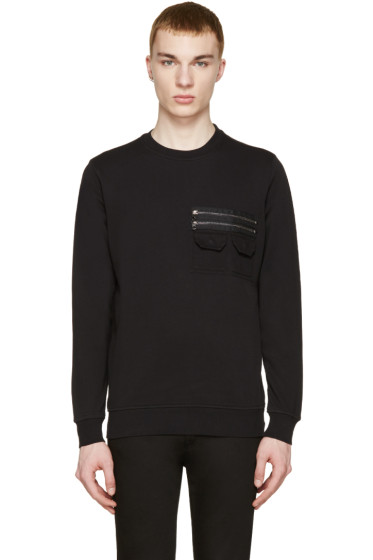 Diesel Black Gold - Black Zip Pocket Pullover