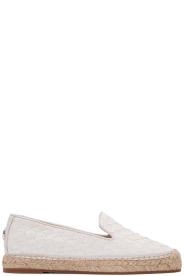 Moncler - White Leather Josette Espadrilles