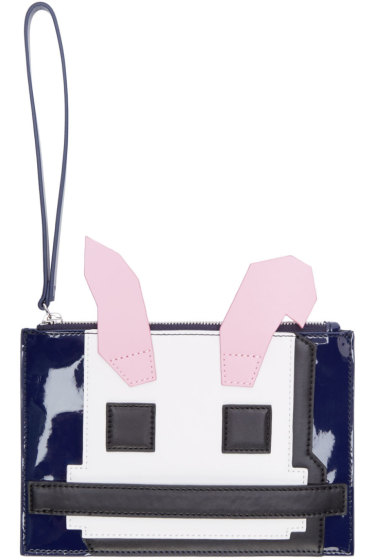 McQ Alexander Mcqueen - Multicolor Leather Electro Bunny Pouch