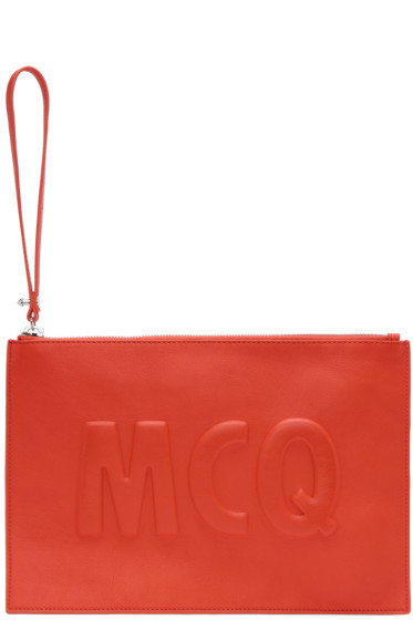 McQ Alexander Mcqueen - Red Leather Logo Pouch