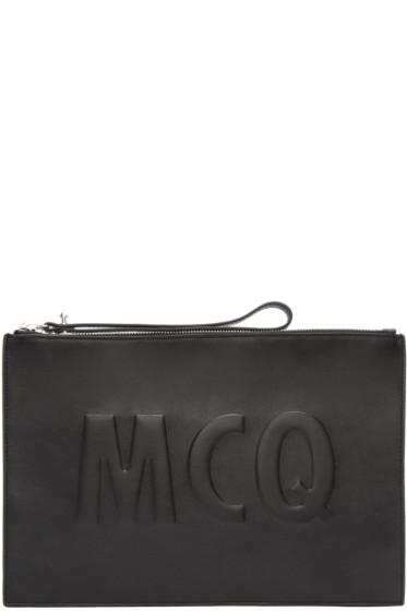 McQ Alexander Mcqueen - Black Embossed Logo Pouch