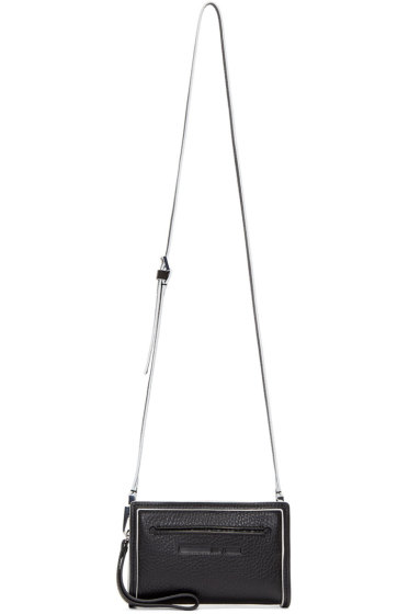 McQ Alexander Mcqueen - Black & White Leather Addicted Cell Bag
