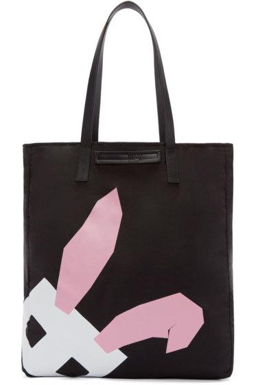 McQ Alexander Mcqueen - Black Nylon Electro Bunny Tote