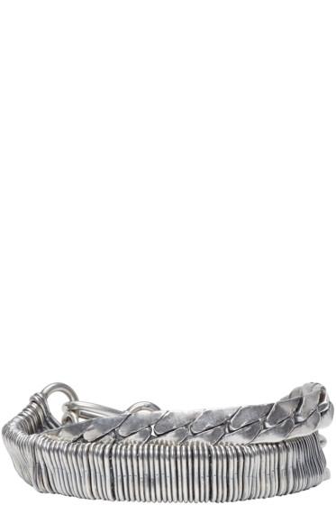 Goti - Silver Double Chain Bracelet