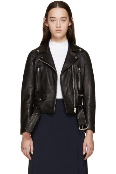 Acne Studios - Black Leather Mock Jacket