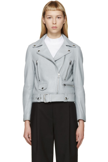 Acne Studios - Grey Leather Mock Jacket