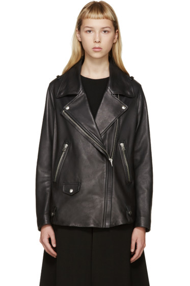 Acne Studios - Black Leather Swift Jacket