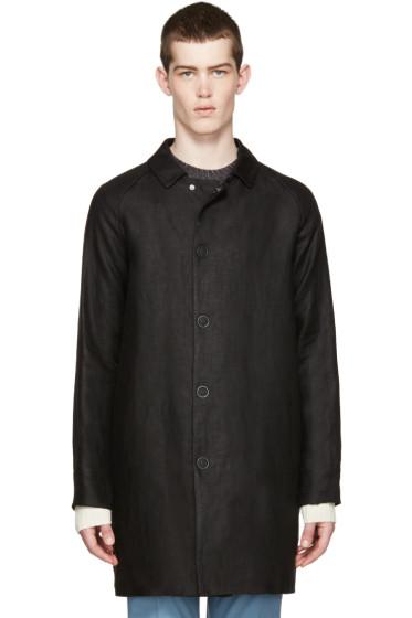 Acne Studios - Black Linen Marl Coat