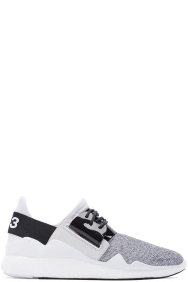 Y-3 - Grey & White Chimu Boost Sneakers