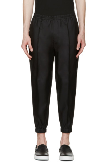 Dsquared2 - Black Wool Jogger Trousers
