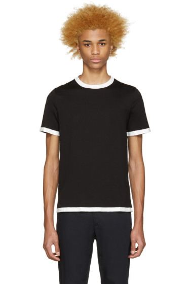 Maison Martin Margiela - Black Painted Seams T-Shirt