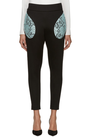 Christopher Kane - Black Lace Pocket Trousers