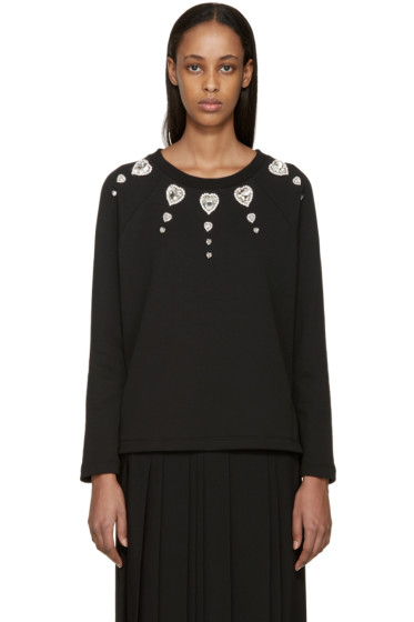 Christopher Kane - Black Jewel Collar Pullover