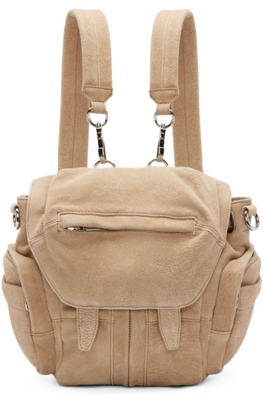 Alexander Wang - Tan Suede Mini Marti Backpack