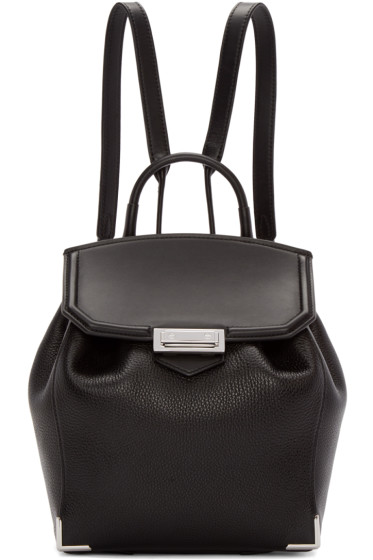 Alexander Wang - Black & Rhodium Mini Prisma Backpack