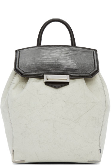Alexander Wang - White & Black Prisma Skeletal Backpack