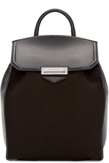 Alexander Wang - Black Canvas & Leather Prisma Backpack