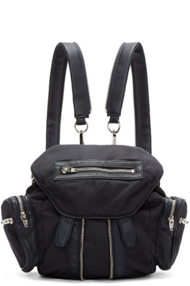 Alexander Wang - Navy Nylon & Leather Mini Marti Backpack