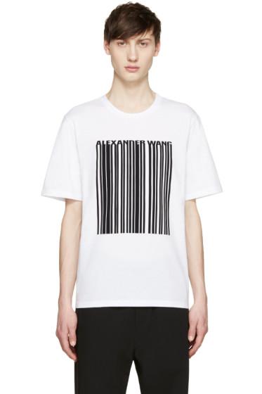 Alexander Wang - White Barcode T-Shirt