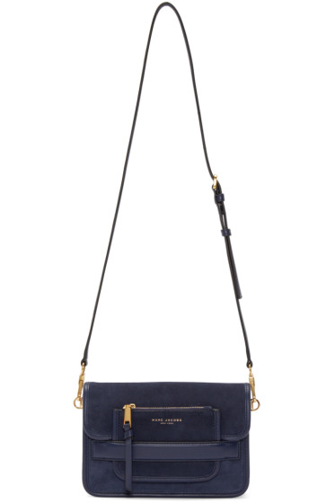 Marc Jacobs - Navy Suede Medium Madison Bag